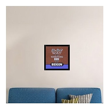 Naxart 'Get Something Done 1' Framed Textual Art on Canvas; 20'' H x 20'' W x 1.5'' D