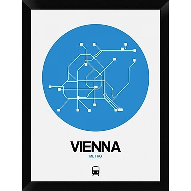 Naxart 'Vienna Blue Subway Map' Framed Graphic Art Print on Canvas; 26'' H x 20'' W x 1.5'' D