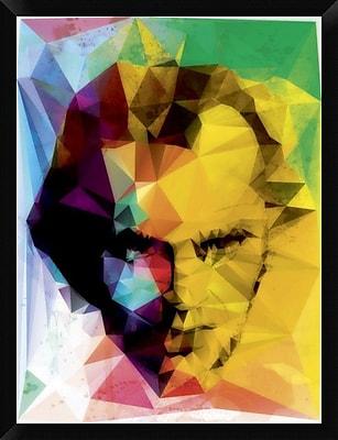 Naxart 'Jack Geometrized' Framed Graphic Art Print on Canvas; 34'' H x 26'' W x 1.5'' D