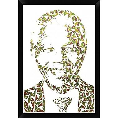 Naxart 'Nelson Mandela' Framed Graphic Art Print on Canvas; 32'' H x 22'' W x 1.5'' D