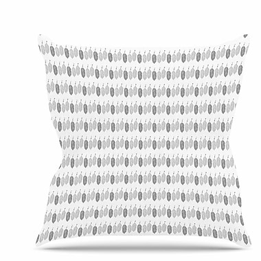 East Urban Home Feathers Throw Pillow; 20'' H x 20'' W x 7'' D