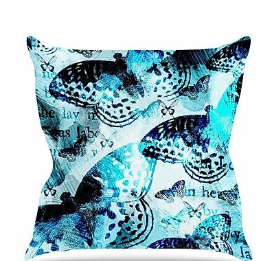 East Urban Home Butterfly Throw Pillow; 18'' H x 18'' W x 6'' D