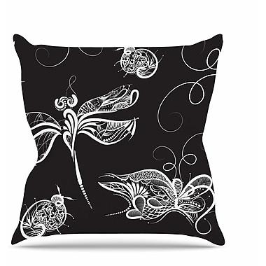 East Urban Home Insects Throw Pillow; 20'' H x 20'' W x 7'' D