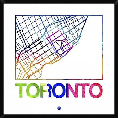 Naxart 'Toronto Watercolor Street Map' Framed Graphic Art Print on Canvas; 42'' H x 42'' W x 1.5'' D