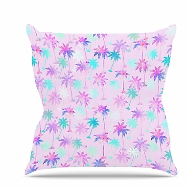 East Urban Home Palm Tree Pattern Throw Pillow; 18'' H x 18'' W x 6'' D