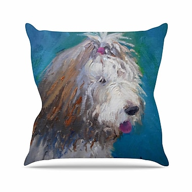 East Urban Home Shaggy Dog Story Throw Pillow; 26'' H x 26'' W x 7'' D