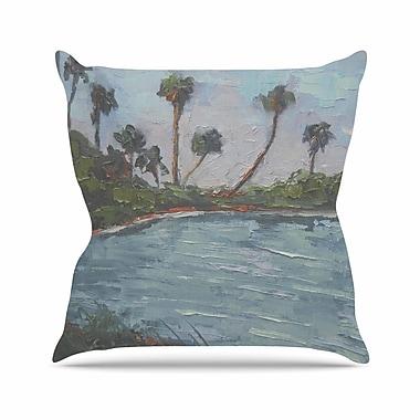 East Urban Home Lagoon Throw Pillow; 18'' H x 18'' W x 6'' D