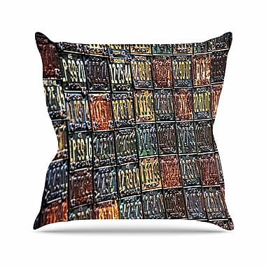 East Urban Home Rusted License Plates Throw Pillow; 16'' H x 16'' W x 6'' D