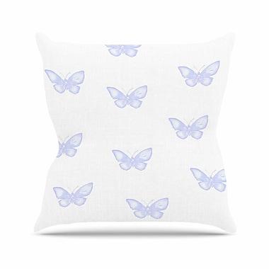 East Urban Home Many Butterflies Throw Pillow; 16'' H x 16'' W x 6'' D