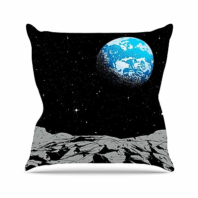 East Urban Home From the Moon Throw Pillow; 16'' H x 16'' W x 6'' D