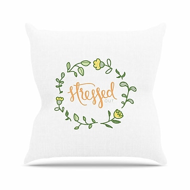 East Urban Home Stressed out Throw Pillow; 18'' H x 18'' W x 6'' D