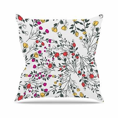 East Urban Home Rose Blossom Garden Throw Pillow; 26'' H x 26'' W x 7'' D