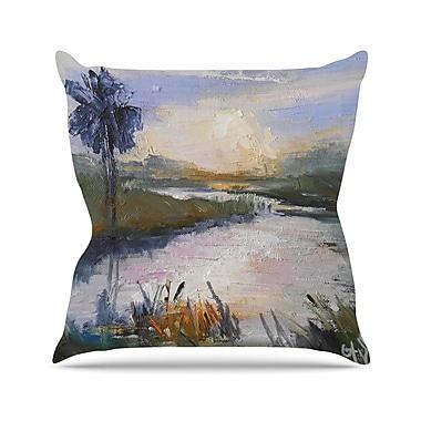 East Urban Home Florida Marshland Throw Pillow; 16'' H x 16'' W x 6'' D