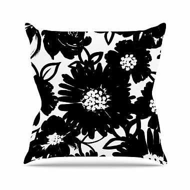 East Urban Home Monochromatic Blooms Throw Pillow; 16'' H x 16'' W x 6'' D