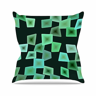 East Urban Home No Seaglass on the Shore Throw Pillow; 16'' H x 16'' W x 6'' D