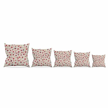 East Urban Home Vintage Flower Love Throw Pillow; 20'' H x 20'' W x 7'' D