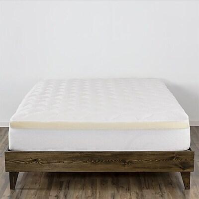 Alwyn Home Double Thick Memory Foam Mattress Pad; King