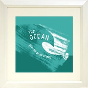 Buy Art For Less 'The Ocean Gives Me Peace of Mind' by PeaceLove Framed Texual Art on Paper