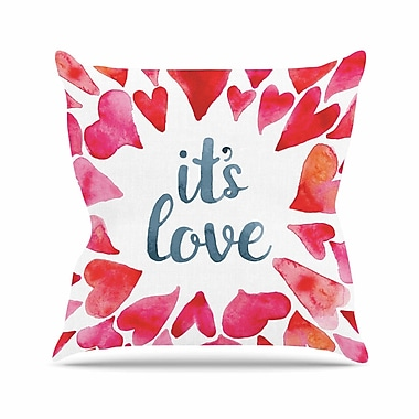 East Urban Home It's Love Throw Pillow; 16'' H x 16'' W x 6'' D