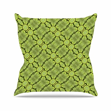 East Urban Home Leafy Lozenges Throw Pillow; 26'' H x 26'' W x 7'' D