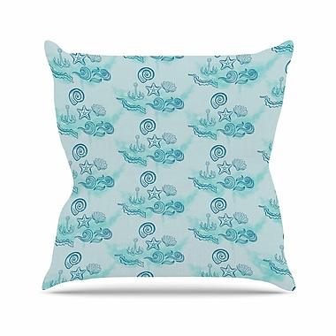 East Urban Home Ocea Throw Pillow; 18'' H x 18'' W x 6'' D