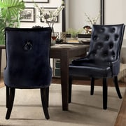 Chic Home Furniture James Side Chair (Set of 2); Black