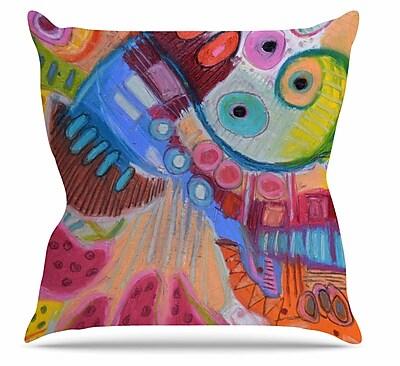East Urban Home Papaya Dream Throw Pillow; 20'' H x 20'' W x 7'' D