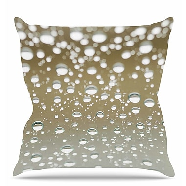 East Urban Home Neutral Rain Throw Pillow; 18'' H x 18'' W x 6'' D