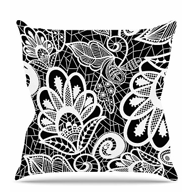 East Urban Home Floral Lace Throw Pillow; 20'' H x 20'' W x 7'' D