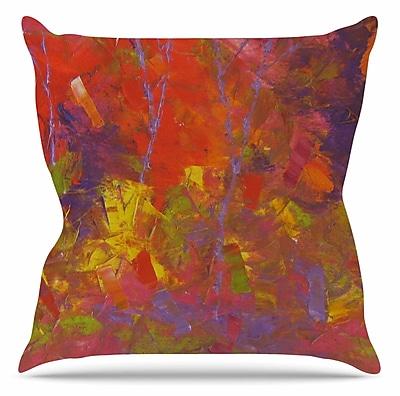 East Urban Home Forest Kaleidescope Throw Pillow; 18'' H x 18'' W x 6'' D