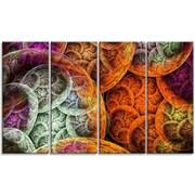 DesignArt 'Multi-Color Dramatic Clouds' Graphic Art Print Multi-Piece Image on Canvas
