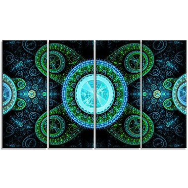 DesignArt 'Bright Blue Psychedelic Relaxing' Graphic Art Print Multi-Piece Image on Canvas