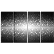DesignArt 'Cosmic Galaxy w/ Shining Stars' Graphic Art Print Multi-Piece Image on Canvas