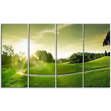 DesignArt 'Green Valley Panorama' Photographic Print Multi-Piece Image on Canvas