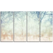 DesignArt 'Winter w/ Foggy Forest' Photographic Print Multi-Piece Image on Canvas