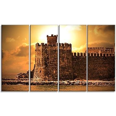 DesignArt 'Old Castle at Sunset' Photographic Print Multi-Piece Image on Canvas