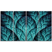 DesignArt 'Blue Exotic Biological Organism' Graphic Art Print Multi-Piece Image on Canvas
