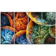 DesignArt 'Vibrant Colorful Clouds' Graphic Art Print Multi-Piece Image on Canvas
