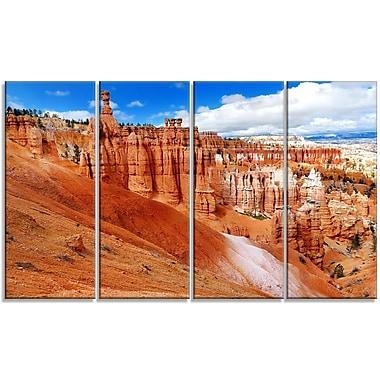 DesignArt 'Stunning Red Sandstone Hoodoos' Photographic Print Multi-Piece Image on Canvas