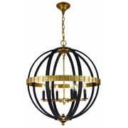 Elegant Lighting Orbus 6-Light Globe Pendant