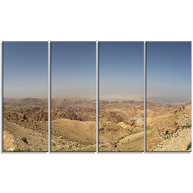 DesignArt 'Panorama Desert Hills Jordan' Photographic Print Multi-Piece Image on Canvas