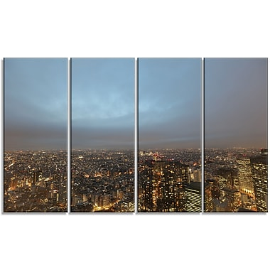DesignArt 'Shinjuku District View Point' Photographic Print Multi-Piece Image on Canvas