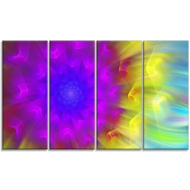 DesignArt 'Purple Fractal Petals Dandelion' Graphic Art Print Multi-Piece Image on Canvas