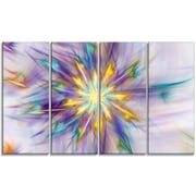 DesignArt 'Large Exotic Colorful Flower' Graphic Art Print Multi-Piece Image on Canvas