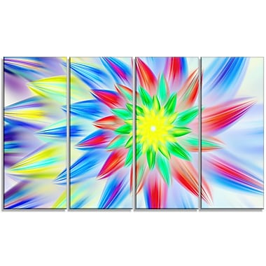DesignArt 'Dance of Petals' Graphic Art Print Multi-Piece Image on Canvas