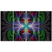 DesignArt 'Beautiful Fractal Stained Glass' Graphic Art Print Multi-Piece Image on Canvas