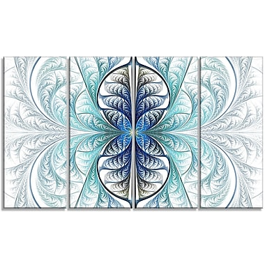 DesignArt 'Light Blue Stained Glass Texture' Graphic Art Print Multi-Piece Image on Canvas