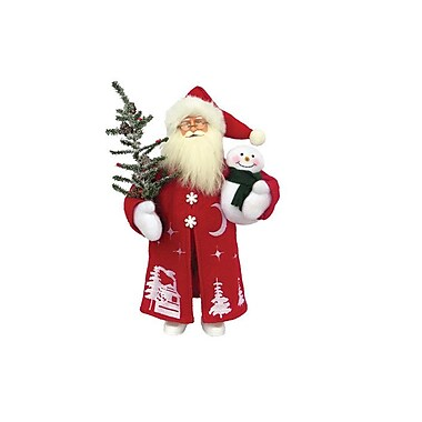 August Grove Cold Winter Night Santa Figurine