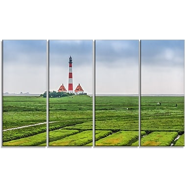 DesignArt 'Westerheversand Lighthouse Panorama' Photographic Print Multi-Piece Image on Canvas