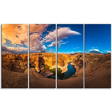 DesignArt 'Reflection Canyon Lake Powell' Photographic Print Multi-Piece Image on Canvas